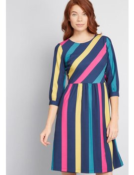 Vibed And True Striped Dress by Fever London