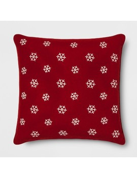 Embroidered Snowflake Oversize Square Throw Pillow   Threshold™ by Threshold