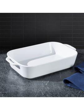 "Staub ® White 13"" X 9"" Rectangular Baker by Crate&Barrel"