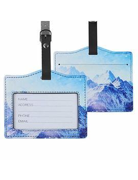 Lizimandu Pu Leather Luggage Tags Suitcase Labels Bag Travel Accessories   Set Of 2 by Lizimandu