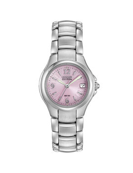 28mm Eco Drive Bracelet Watch, Pink by Citizen