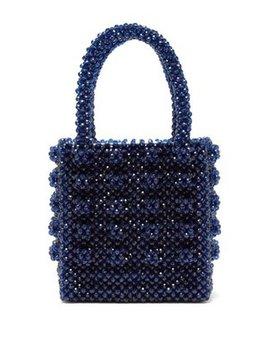 Antonia Sapphire Crystal Embellished Bag by Shrimps