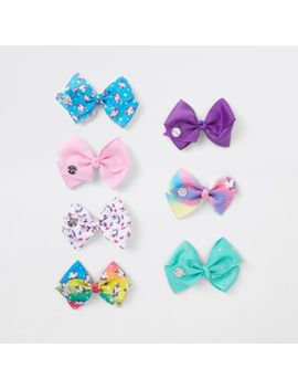 Girls Pink Jo Jo Bows Pack by River Island