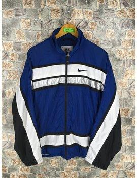Nike Jacket Windbreaker Medium Vintage 90s Nike Swoosh Blue Sportswear Multicolor Nike Swoosh Logo Nike Air Activewear Windrunner Size M by Etsy