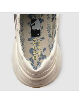 Men's Rhyton Sneaker With Ny Yankees™ Print by Gucci