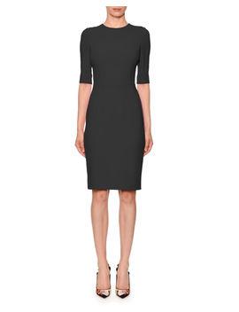 Half Sleeve Jewel Neck Sheath Dress by Dolce & Gabbana