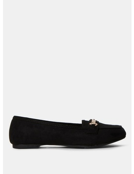 Wide Fit Black Microfibre 'Lair' Loafers by Dorothy Perkins