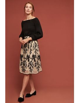 Embroidered Tulle Skirt by D Ra