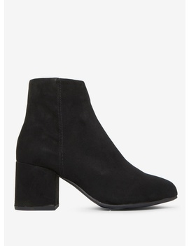 Wide Fit Black 'aubree'  Block Heel Ankle Boots by Dorothy Perkins