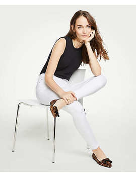 Curvy Skinny Jeans In White by Ann Taylor