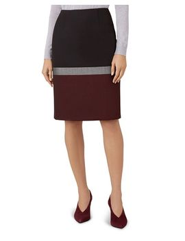 Simona Color Block Pencil Skirt by Hobbs London