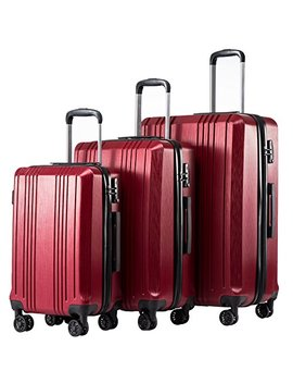 Coolife Luggage Expandable Suitcase Pc+Abs 3 Piece Set With Tsa Lock Spinner 20in24in28in by Coolife