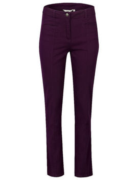 New Womens Ladies Sz 10 Purple Straight Leg Twill Cotton With Elastane Trousers by Ebay Seller