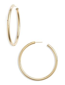 Lou Large Hoop Earrings by Jennifer Zeuner