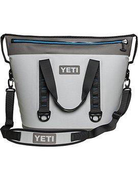 Yeti Hopper Two 40 Portable Cooler, Fog Gray / Tahoe Blue by Yeti