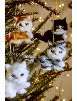 Plush Cat Christmas Ornament by Urban Outfitters