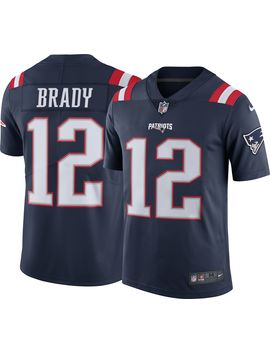 Nike Men's Color Rush Limited Jersey New England Patriots Tom Brady #12 by Nike