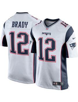 Nike Men's Away Game Jersey New England Patriots Tom Brady #12 by Nike