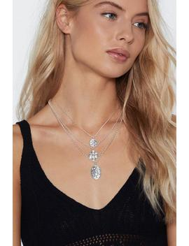 Threesome Pendant Necklace by Nasty Gal