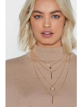 Pull Back The Layers Charm Necklace by Nasty Gal