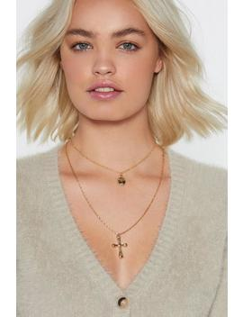 Layer It On Cross Necklace by Nasty Gal