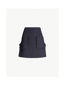 Frill Pocket Stretch Woven Skirt by Sandro