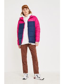 Columbia Uo Exclusive Pike Lake Navy And Blush Puffer Jacket by Columbia