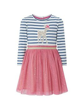 Monsoon   Girls' Pink 'alexa' Disco Dress by Monsoon