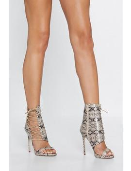 Dusk To Dawn Snake Heel by Nasty Gal