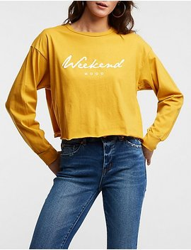 Weekend Graphic Tee by Charlotte Russe