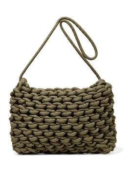 Fiona Woven Cotton Shoulder Bag by Alienina