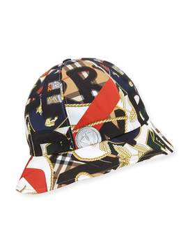 Men's Medal Vintage Check Bucket Hat by Burberry