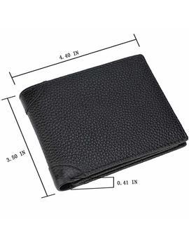 Men's Wallet   Rfid Blocking Cowhide Leather Vintage Trifold Wallet by Gdtk