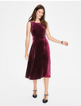 Thomasina Velvet Midi Dress by Boden