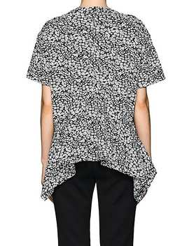 Floral Compact Knit Handkerchief Top by Cedric Charlier