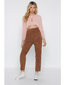 Never Belt This Way Corduroy Pants by Nasty Gal