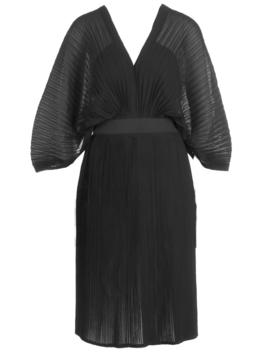 Boutique Pleated Batwing Midi Dress by Boohoo