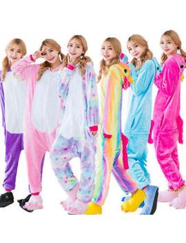 Unisex Adult Pajamas Unicorn Kigurumi Cosplay Costume Animal Sleepwear Onesi4 by Ebay Seller