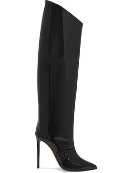Alex Patent Leather Knee Boots by Alexandre Vauthier
