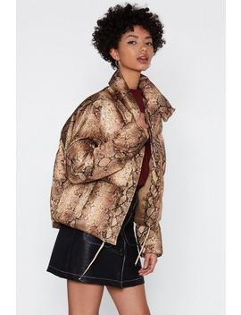 Make A Snake For It Padded Coat by Nasty Gal