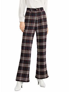 Verdusa Women's High Waist Button Fly Wide Leg Pants Long Palazzo Trousers by Verdusa