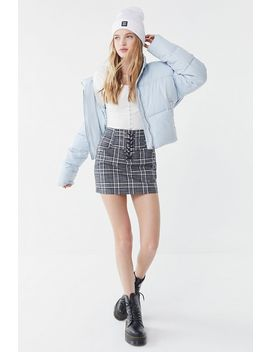 Heartloom Jae Plaid Lace Front Mini Skirt by Heartloom
