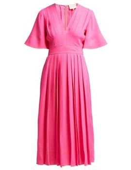 Zandra Pleated Georgette Midi Dress by Roksanda