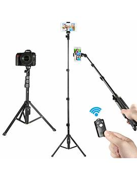 Kamisafe Selfie Stick Tripod, 51 Inch Adjustable Phone Tripod Extendable Dslr Camera Tripod Stand With Remote & Universal Clip Compatible With I Phone Xs Max Xr X 8 Plus 7 Plus Galaxy Note 8 S8 S9 Plus by Kamisafe