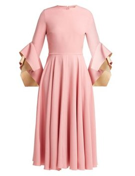 Flared Sleeve Cady Dress by Roksanda