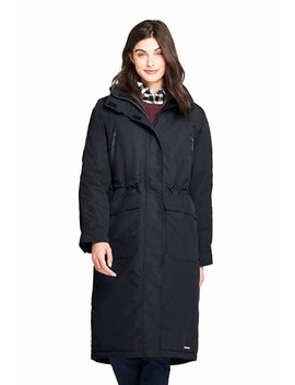 Women's Tall Squall Insulated Long Stadium Coat by Lands' End