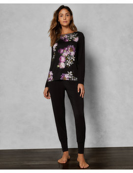 Sunlit Floral Jersey Pyjama Joggers by Ted Baker