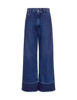 Women's Blue Legion High Rise Distressed Jeans by Rachel Comey