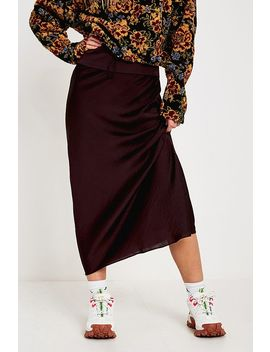 Free People Normani Red Bias Skirt by Free People