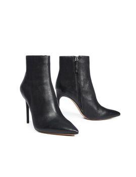 Women's Black Celyn Leather Bootie by Alice + Olivia